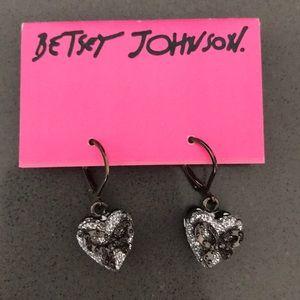 Betsey Johnson heart shape drop earring
